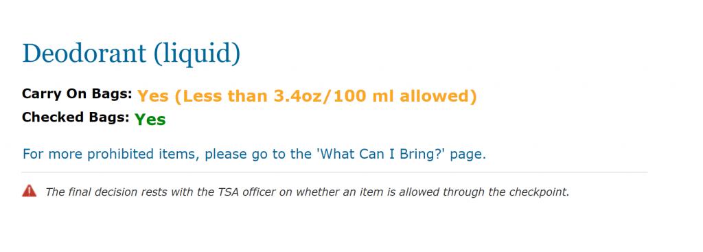 Can You Bring A Liquid Deodorant On A Plane? TSA Rules